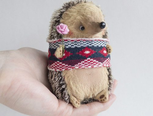 kawaii hedgehog plush animals sewing kits and patterns