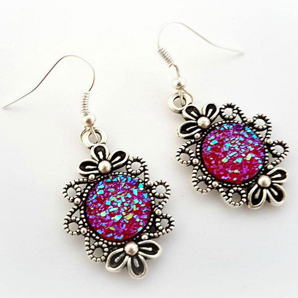 Cel's Deconails druzy earrings