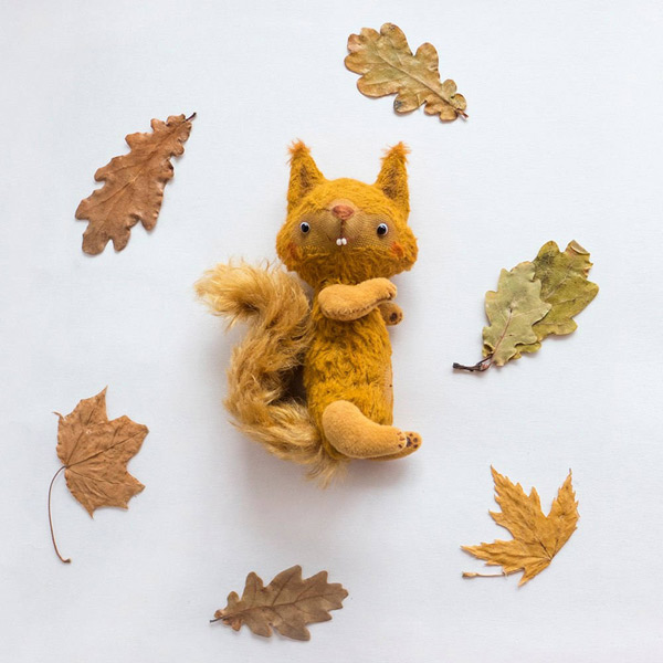 kawaii squirrel plush animals sewing kits and patterns