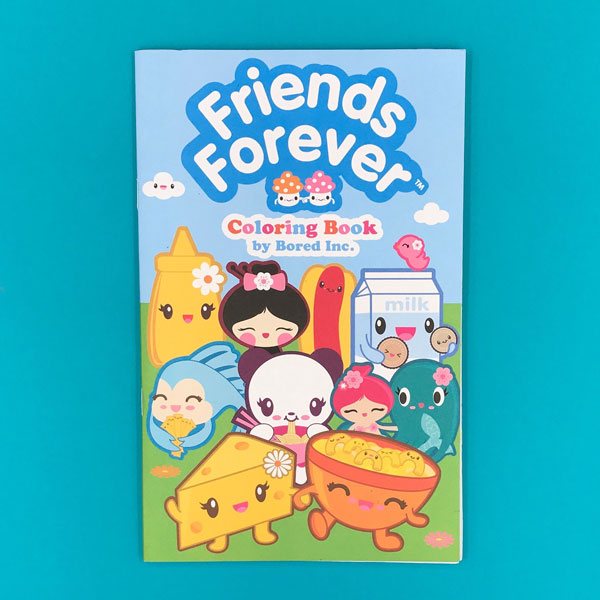 best friends kawaii colouring book