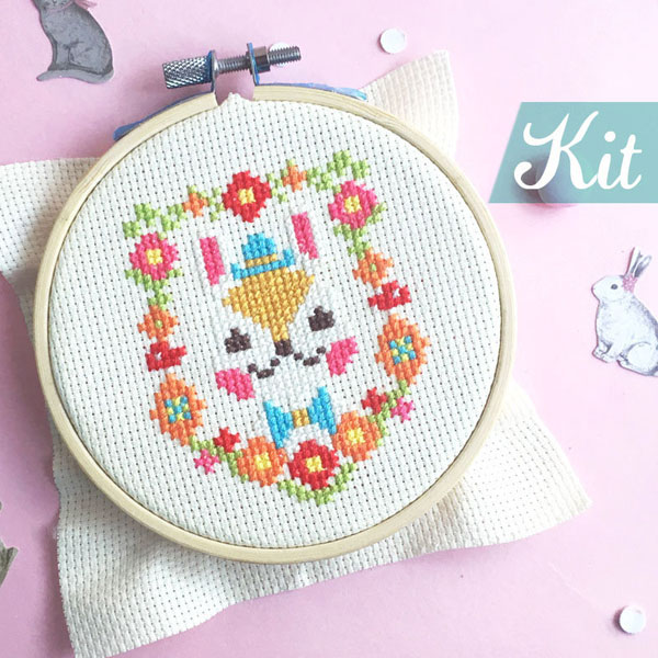 Easter Bunny DIY Craft Kits cross stitch