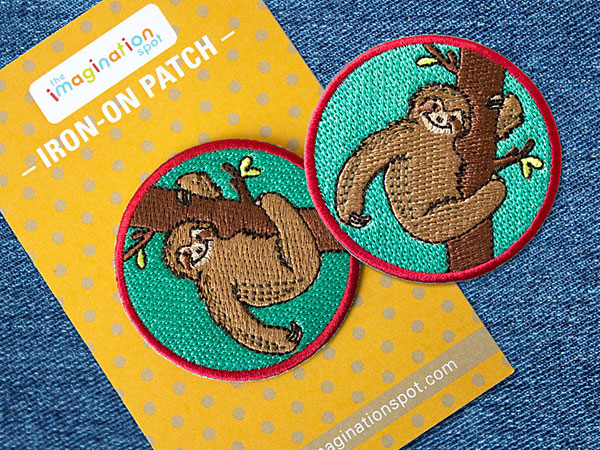 kawaii sloth patch - TheImaginationSpotUS