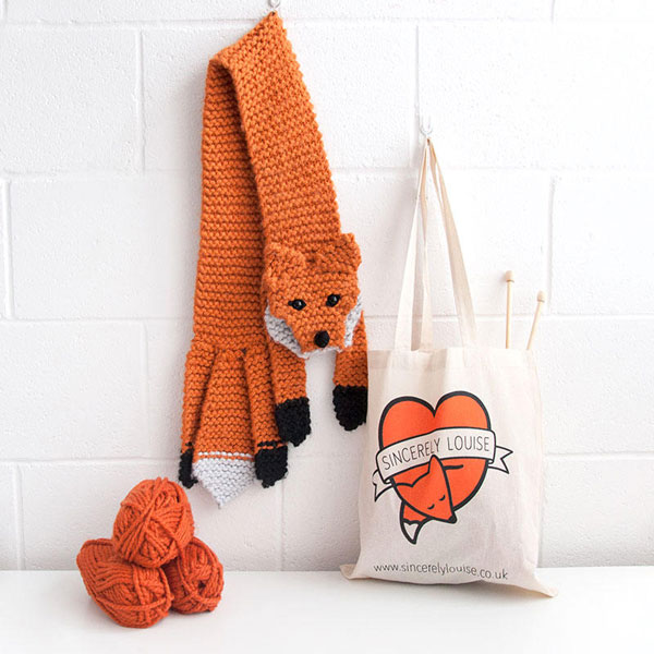 Kawaii Fox Crafts - scarf knitting kit