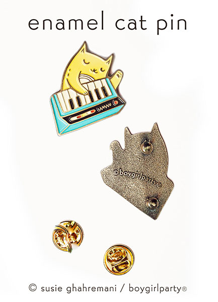 boygirlparty kawaii cat enamel pins