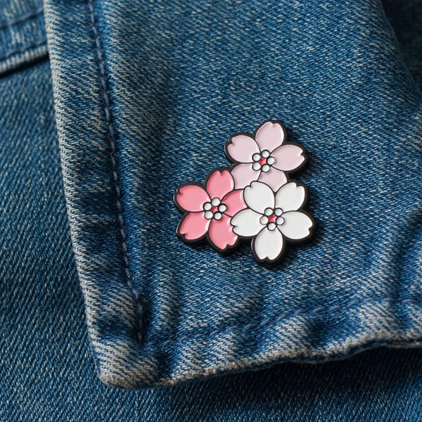 Cute Mother's Day gift - sakura enamel pin