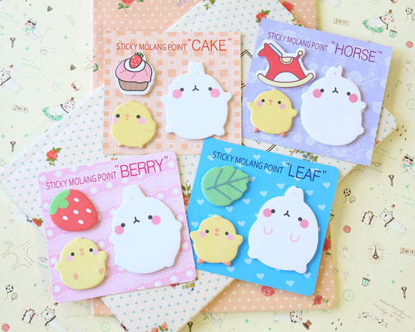 Molang PiuPiu kawaii stationery