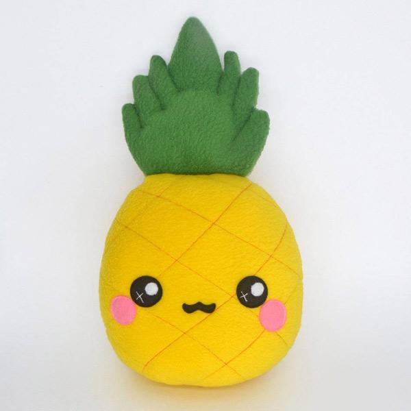 kawaii summer pineapple plush
