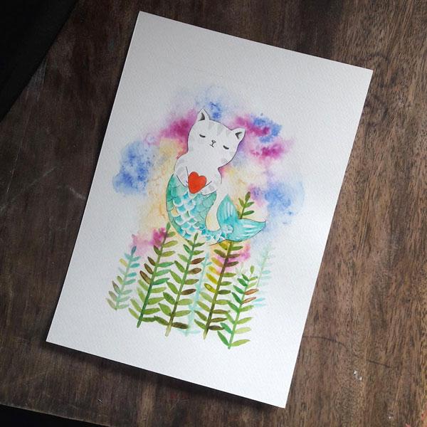 animal watercolour painting