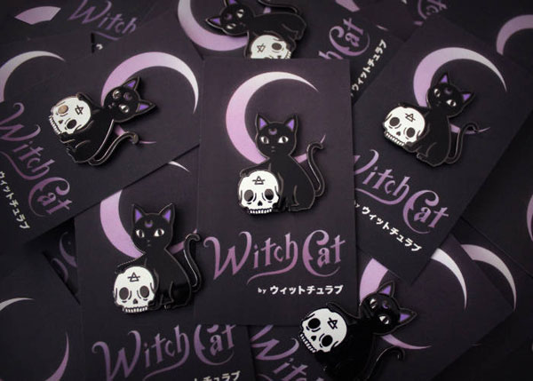 cat lady gifts creepy cute pin