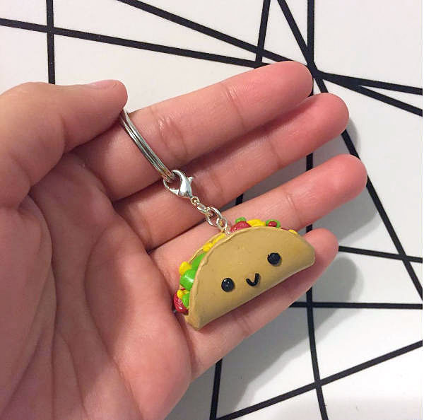 Taco kawaii keychains