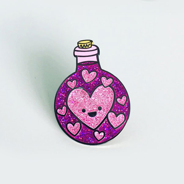 Valentine's Day kawaii love enamel pin