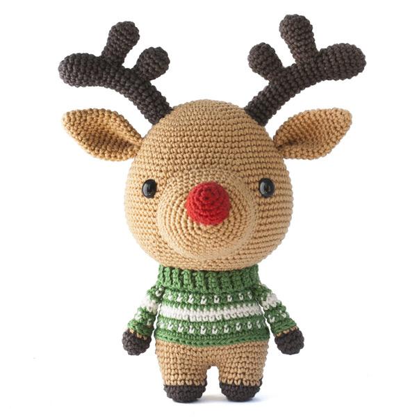 rudolph reindeer christmas amigurumi crochet pattern