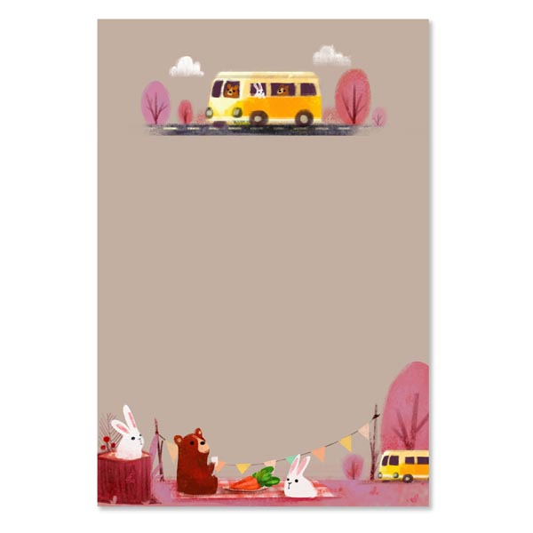 kawaii notepads animal pocket camp