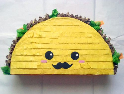 kawaii birthday taco pinata