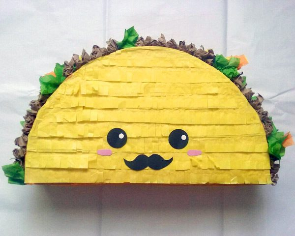 kawaii birthday taco pinata