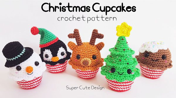 Christmas Crochet Patterns - cupcakes