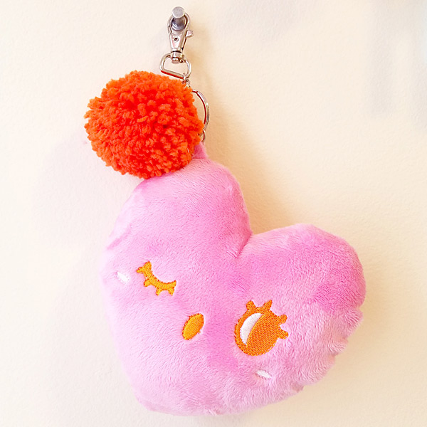 kawaii hearts plush charm