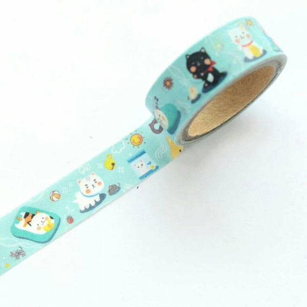 kawaii stationery cat washi tape