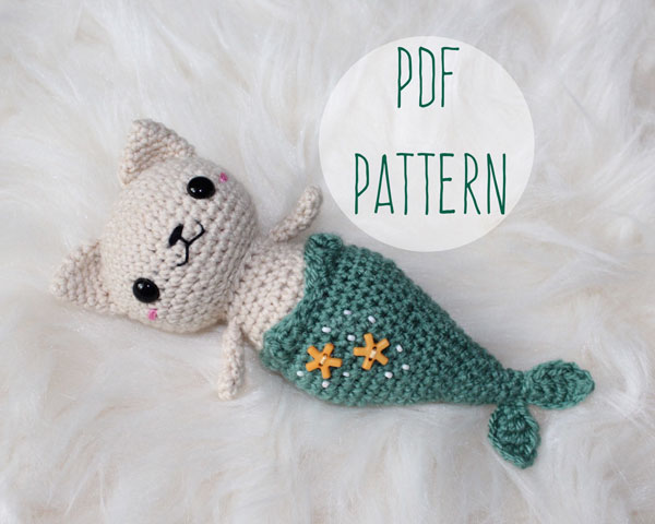 merkitty kawaii amigurumi crochet pattern