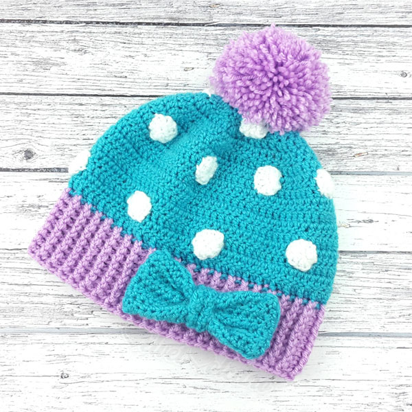 cute cosy pom pom hat