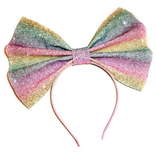 Kawaii hair accessories pastel glitter bow