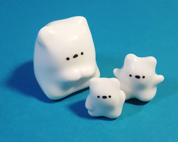 Kawaii bears handmade ceramics