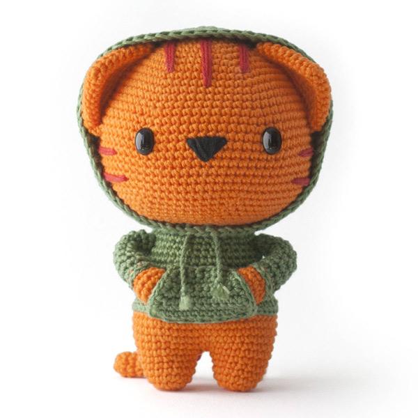 kawaii tiger amigurumi crochet pattern