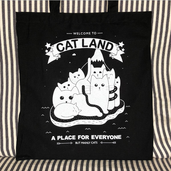 Kawaii Gift Wrapping - cat tote bag