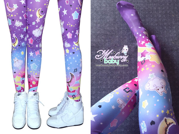 Kawaii Workout Gear - rainbow leggings