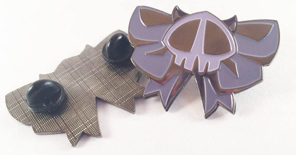 Spooky Cute bat skull bow enamel pin