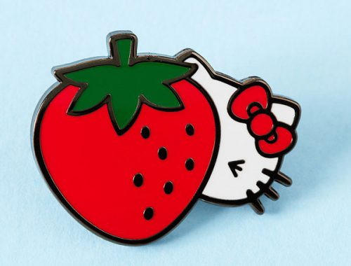kawaii strawberry Hello Kitty enamel pin