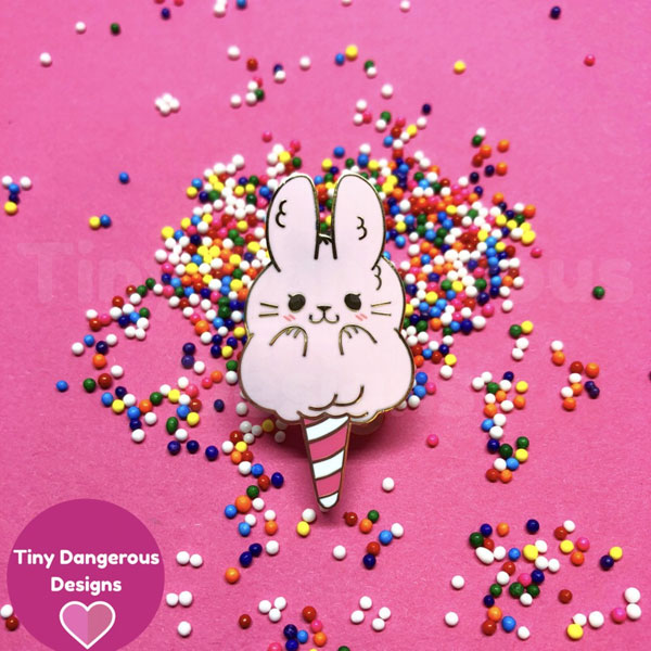 kawaii bunny enamel pins