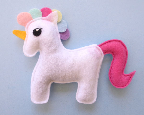 kawaii unicorn catnip cat toy