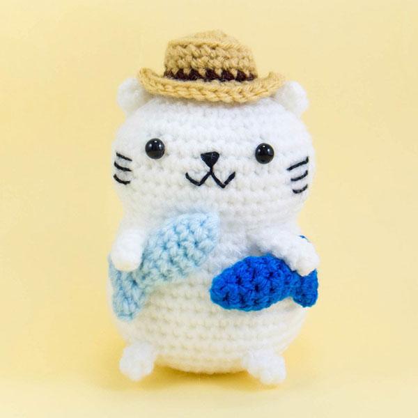 fisherman kitty amigurumi crochet pattern