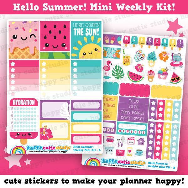 kawaii summer planner printables