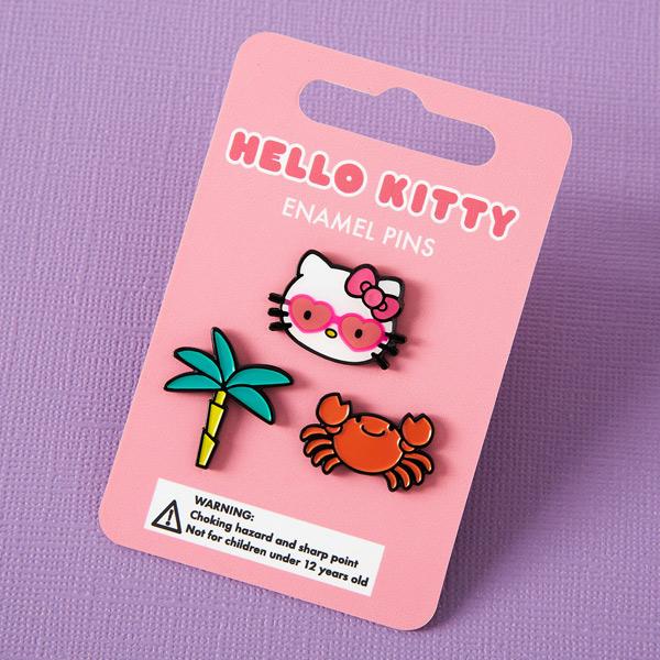 kawaii summer hello kitty enamel pins