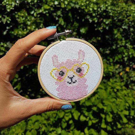 Cute Cross Stitch Kits & Patterns - Llama