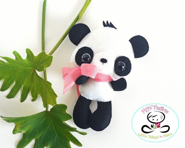 DIY Felt Panda sewing pattern