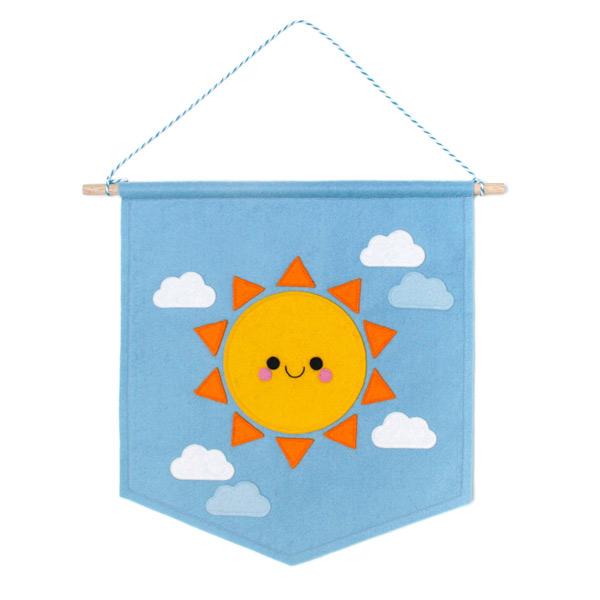 kawaii summer sun banner