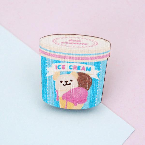 kawaii summer ice cream brooch