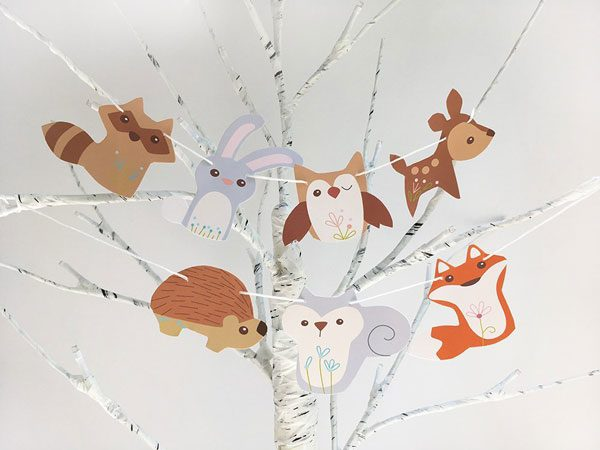 Kawaii Fall Crafts - woodland animal printables