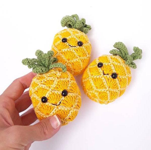 kawaii pineapple amigurumi crochet