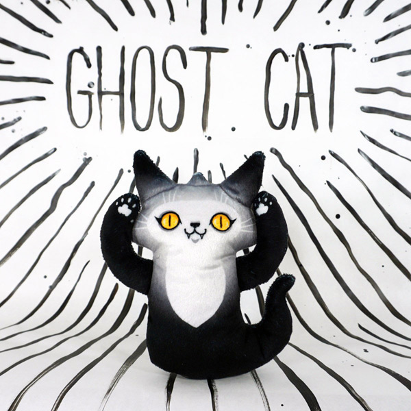 Friendly Ghosts kawaii Halloween cat plush