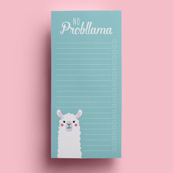 kawaii llama to do notepad