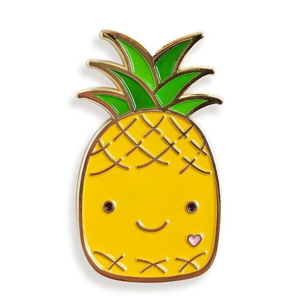 kawaii pineapple enamel pin