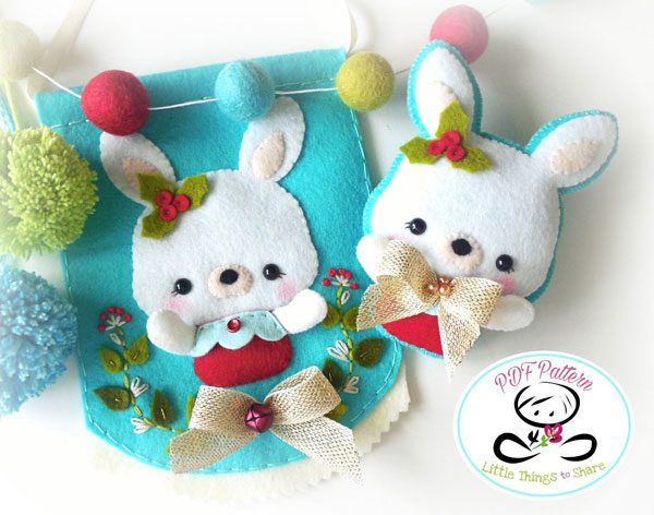 DIY Felt Ornaments - Bunny