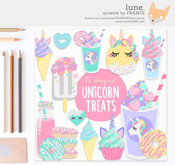 kawaii unicorn planner printables