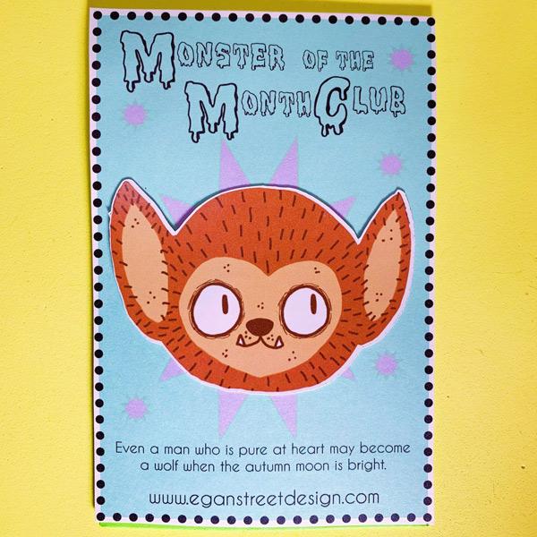 kawaii monster Wolfman sticker