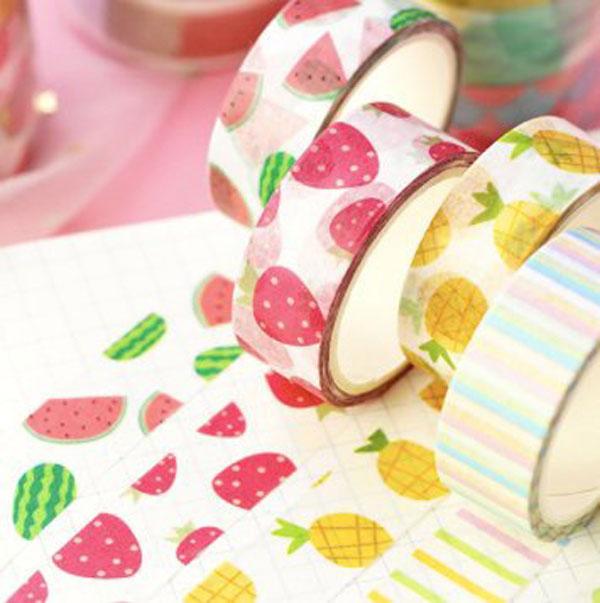 kawaii pineapple fruits washi tape