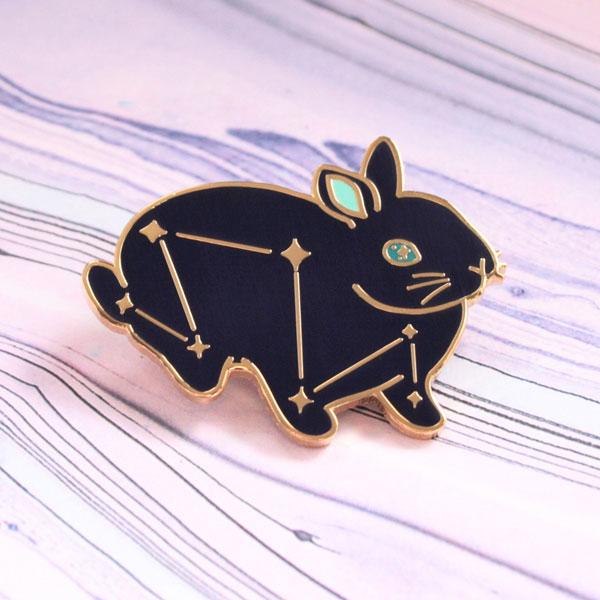 kawaii bunny enamel pin